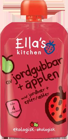 Ella's Kitchen med jordbær og epler